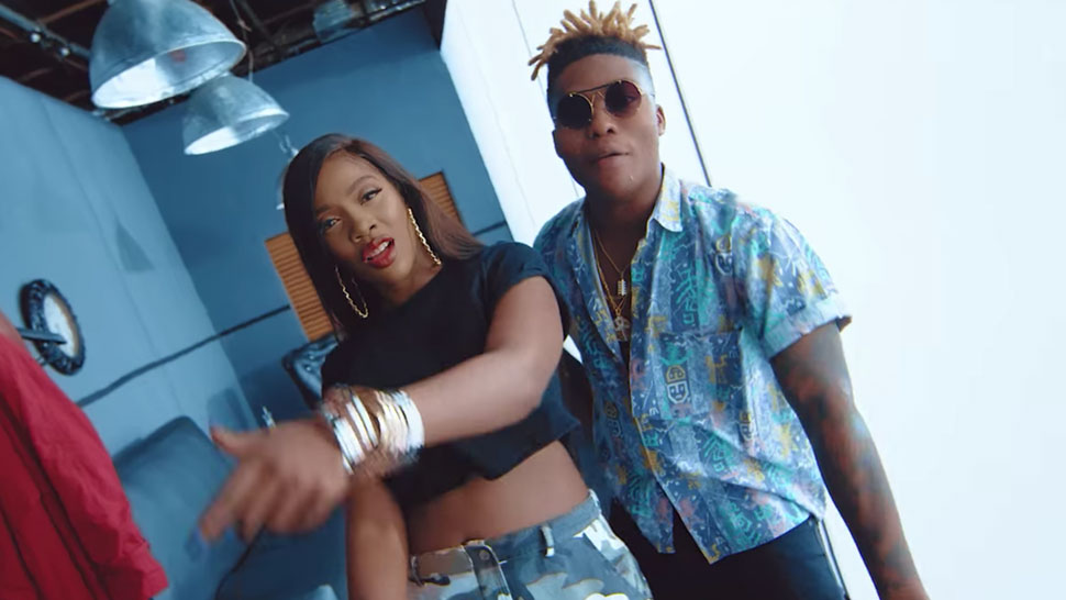Reekado Banks and Tiwa Savage get intimate in the video for