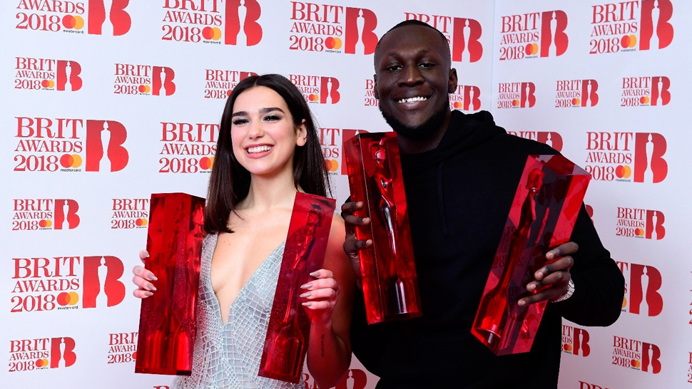 Brit-Awards-2018-Dua-Lipa-Stormzy