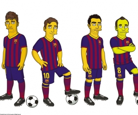 Barcelona have joined the Simpsons!