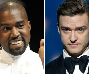 Kanye West dissed Justin Timberlake during an award show