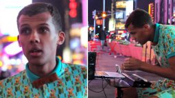 Stromae performs 'Papaoutai' in the streets of New York