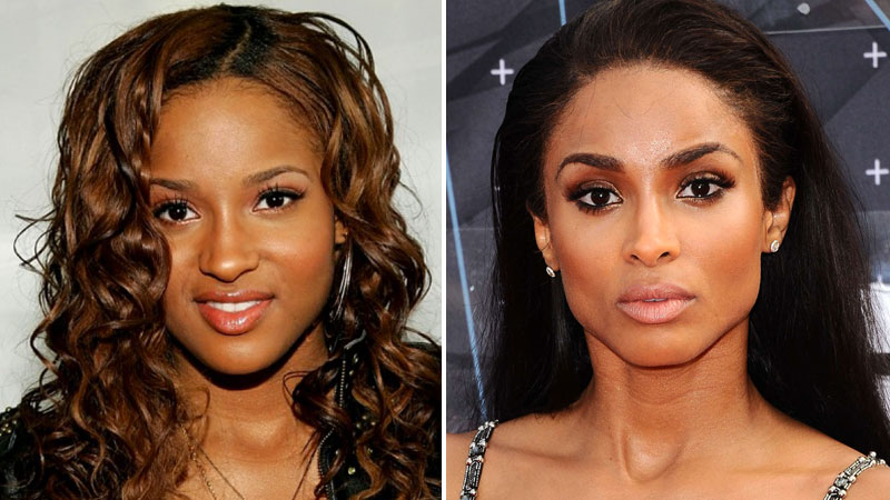 Ciara nicki minaj chris brown then vs now trace - Rihanna avant apres ...