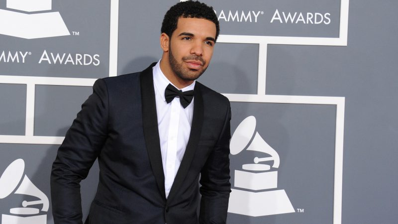 Rapper Drake arrives at the 55th annual Grammy Awards on Sunday, Feb. 10, 2013, in Los Angeles.  (Photo by Jordan Strauss/Invision/AP)