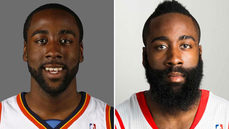harden av ap 7 celebrities who look better with beards trace,Beard Vs No Beard Meme