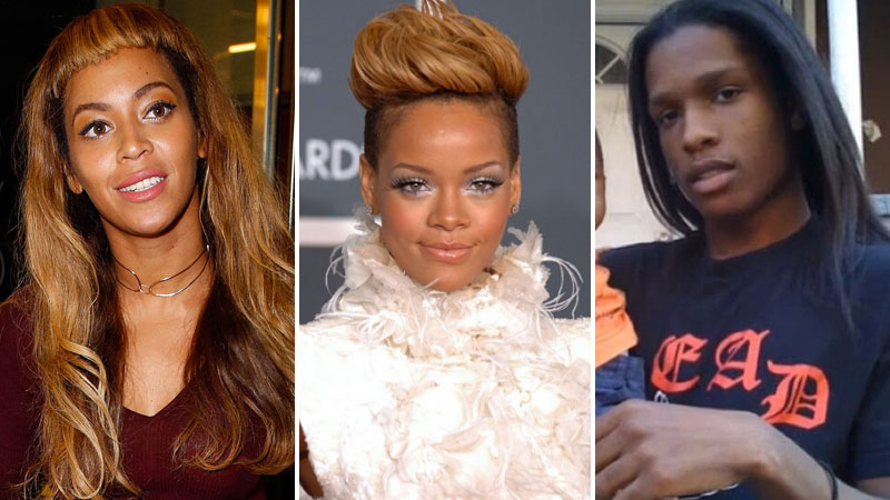 Beyoncé Rihanna Aap Rocky Celebrities Worst Hairstyles Trace