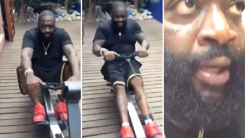 rick ross is putting strenuous effort into losing weight trace