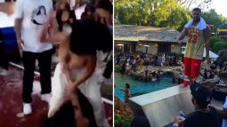 A nasty girl fight broke out at Drake's Memorial Day Pool Party