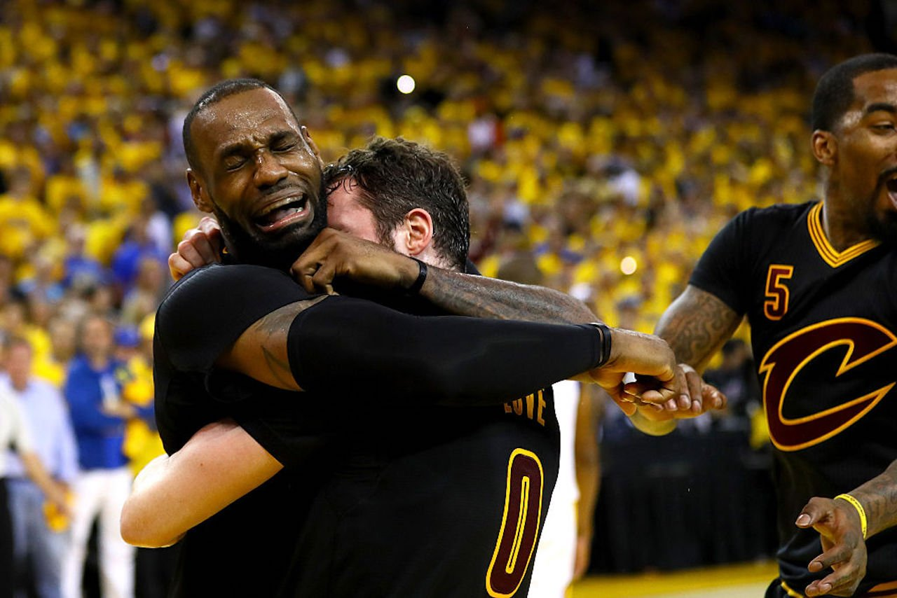 LeBron James cries and gets emotional after NBA Finals win ...