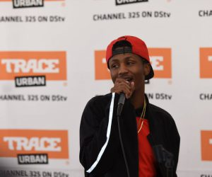 Emtee stole the show and had some heartfelt words of encouragement for each of the children.