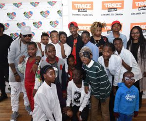 The Ambitiouz Entertainment family were a hot favourite among the children.