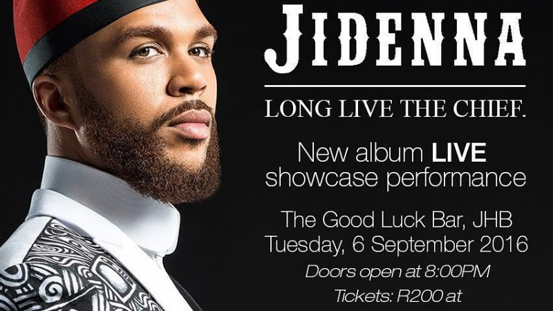 Jidenna in Jozi this week!