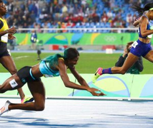 Rio 2016 : this Bahamian sprinter took a dive to get the gold in women's 400m final