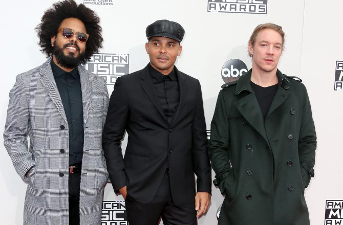 LOS ANGELES, CA - NOVEMBER 20: (L-R) Jillionaire, Walshy Fire and Diplo of musical group Major Lazer attend the 2016 American Music Awards at Microsoft Theater on November 20, 2016 in Los Angeles, California. (Photo by Frederick M. Brown/Getty Images)