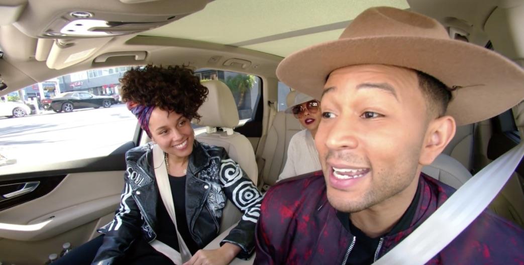 John Legend Alicia Keys And Will Smith All Star In The New Carpool