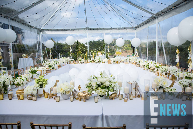 An Inside Look At Ciaras All White Baby Shower Trace