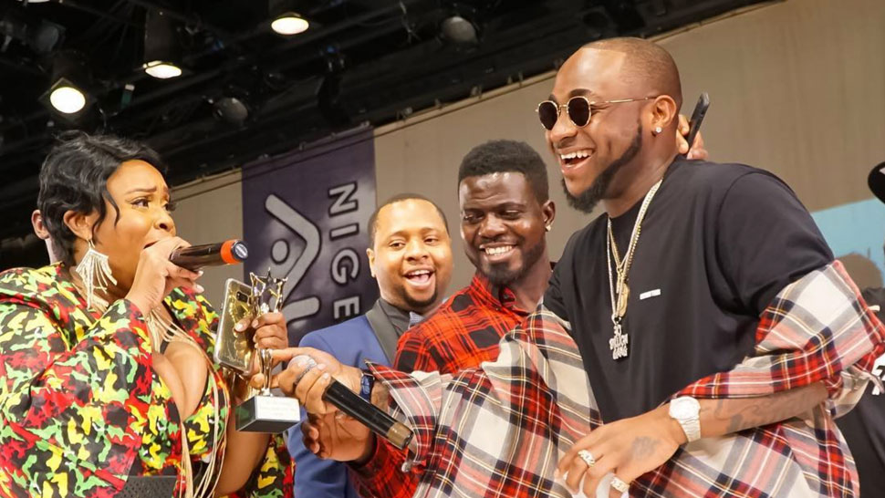 Davido and Olamide win big at the Nigeria Entertainment