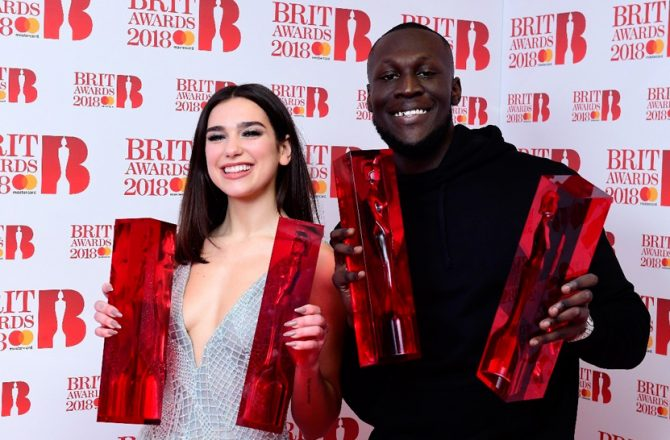 Brit-Awards-2018-Dua-Lipa-Stormzy