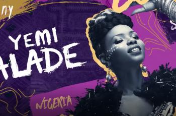 Yemi Alade billboard with BasslineFest theme