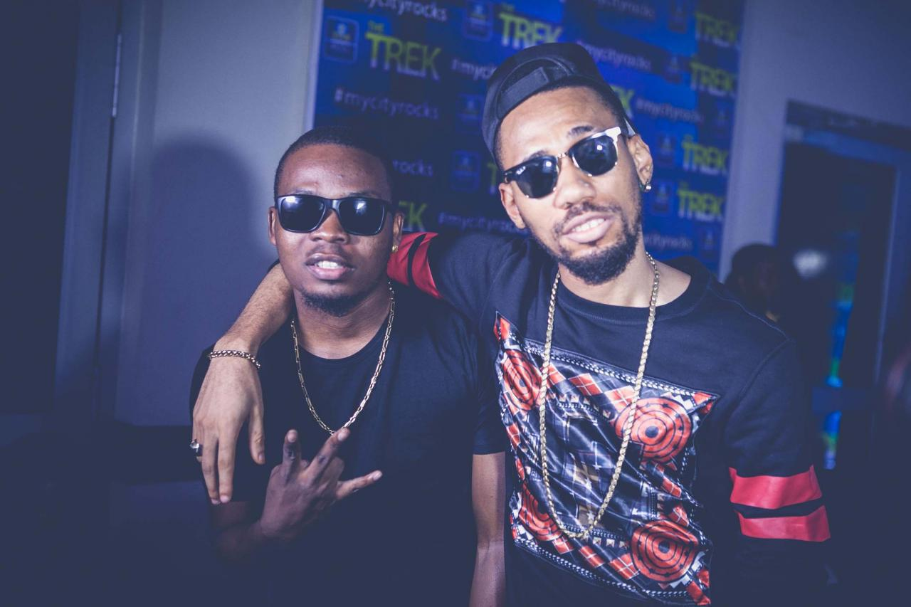 Olamide and Phyno cheer up the Super Eagles with new soccer
